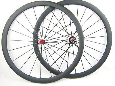 700c 38mm black carbon Fiber road bike wheels cycle carbon wheelset Light weight