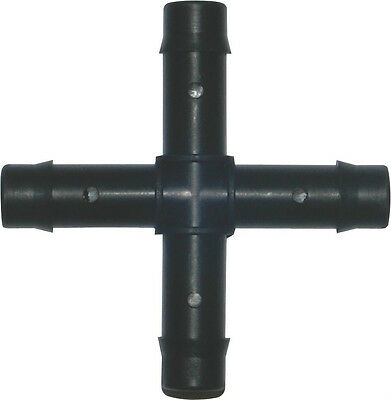 1 x 13mm Cross 4-way Pipe Fittings Water Hydroponics Pond Irrigation Barbed