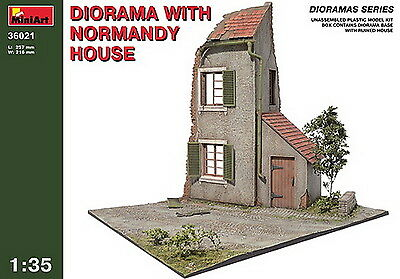 MiniArt 36021 Diorama with Normandy house 1/35 Plastic Model Kit