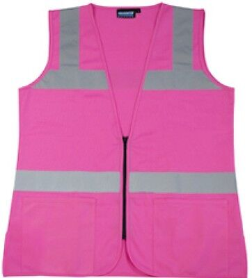 Pink Safety Vest Ladies Contour Fitted Hi-Visibility  Size 4XL  FREE SHIP