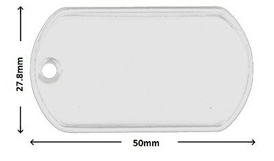 Stainless Steel Dog Tag 50 x 27.8mm with 3.2mm Hole - FREE delivery