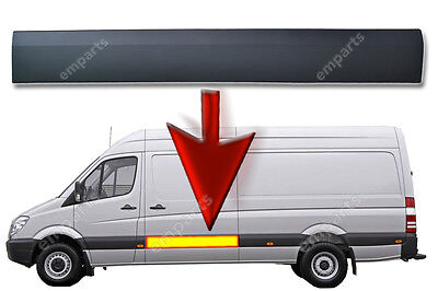 VW Crafter MWB Plastic Protective Side Moulding Strip Trim N/S 2006 -2015