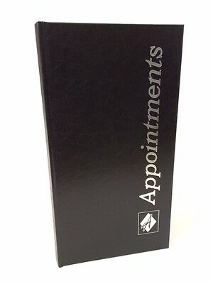 3 Column Black Appointment Book - Meetings, Receptionist, Secretary etc ....