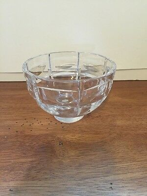 "Vintage Bohemia Czech Hand Cut Lead Crystal Square  Bowl 3 1/4"" T ~ 5"" W"