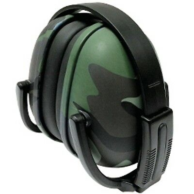 2 Green Camo Ear Muffs Hearing Protection Folding & Adjustable Work/Shoot/Hunt