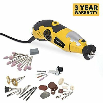 Powerplus 180W Multi Purpose Rotary Tool Dremel Compatible + Accessories & Case