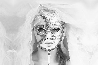 STUNNING VENETIAN CARNIVAL PARTY MASK CANVAS #54 WALL ART A1 A3 CANVAS PICTURES