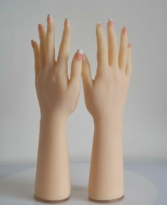 lifesize soft silicone hand mannequin + posable skeleton 4 jewelry glove display