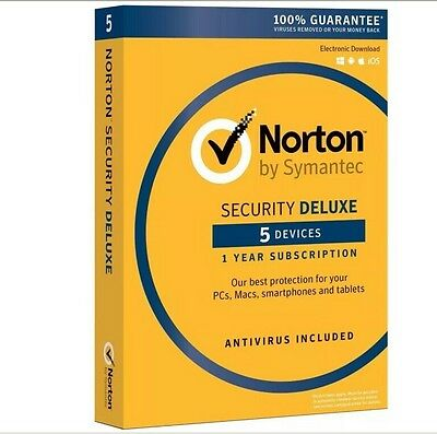 Norton Security Deluxe 2019 5-Devices PC/MAC/Android/iOS