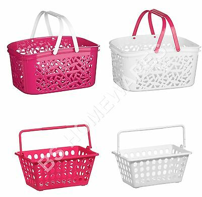 Plastic Handy Storage Basket With handles Large,Small Kitchen Office School New