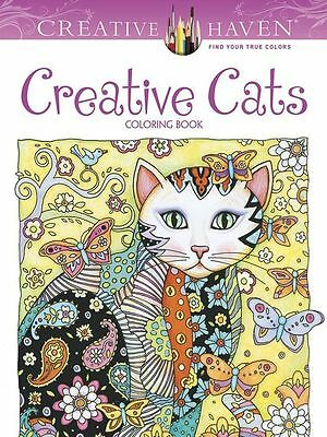 Creative Cats Adult Colouring Book Calm Relaxing Art Therapy Animals Patterns
