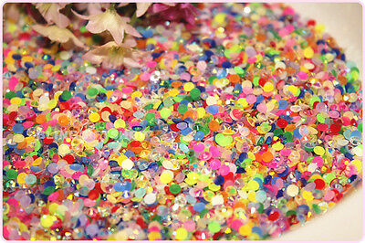 Jelly Mixed Colours Resin Flat Back Rhinestones Diamante Gems  3Mm-6Mm Bulk Sale