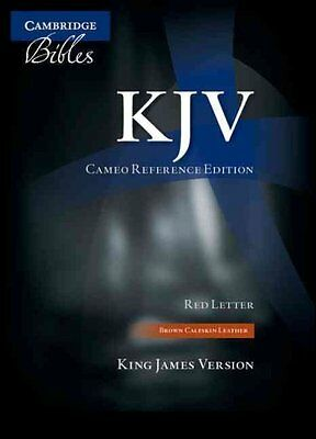 KJV Cameo Reference Edition KJ455:XR Brown Calfskin Leather by Cambridge...