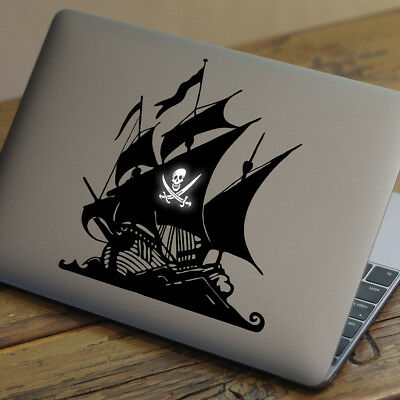 """PIRATE SHIP Apple MacBook Decal Sticker fits 11"""" 12"""" 13"""" 15"""" and 17"""" models"""