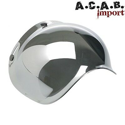 "Visière Biltwell ""Bubble"" mirror chrome"