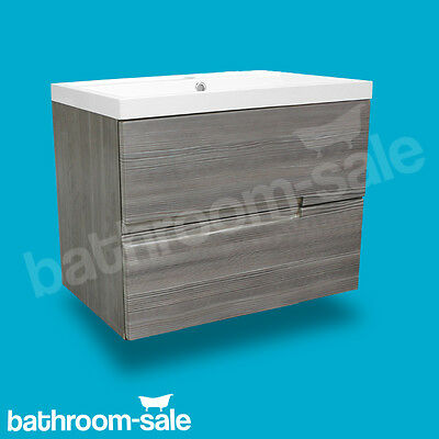 Vermont 600  Grey Avola Wall Mounted Vanity Unit and Basin Genuine RRP £529 NEW