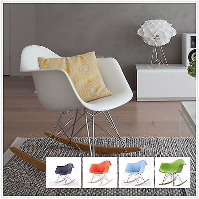 Rocking Chair Rocker Armchair Mmilo Eiffel Inspired Contemporary Plastic Seat