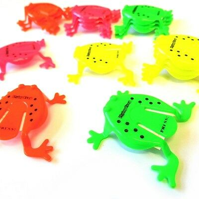 12 x JUMPING FROGS TOY TIDDLYWINKS BOYS GIRLS LOOT BIRTHDAY PARTY BAG FILLERS
