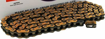 New Heavy Duty Motorcycle Chain 428 134 Link - Gold Colour - Motorbike
