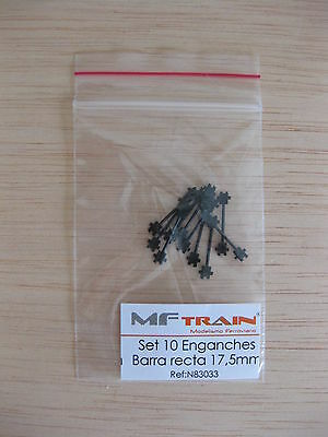 Mftrain - ref.N83033 - Set 10 Enganches barra recta 17,5 mm