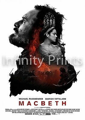 Macbeth Movie Film Poster A3 A4
