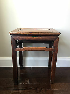 Fine Chinese Hardwood Low Stool or Table