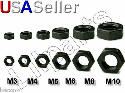 Black Oxide Steel Hex Nuts Metric M2 M2.5 M3 M4 M5 M6 M8 M10
