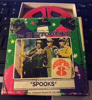 """The 3 Stooges - """"Spooks"""" 8mm Film in Orig. Box"""