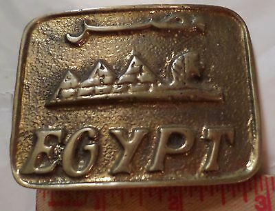Vintage brass Egypt belt buckle collectible old Middle-East clothing accessory