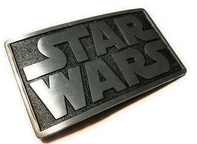 Original STAR WARS metal logo belt buckle Pewter color Cosplay DArth vader luke