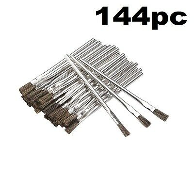 144 Piece 3/8 in. Horsehair Bristle Acid Shop Hobby Brushes Glue Oil Flux