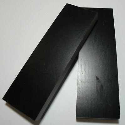 "Micarta Canvas Black Knife Scales PRICE LOWERED! (app. 4 3/4""x1 1/2""x3/8"")#11"