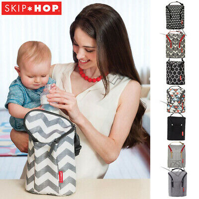 NEW Skip Hop - Grab and Go Double Baby Bottle Bag Insulated Warmer/Chiller Duo