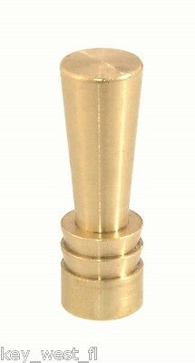 "ART DECO STYLE LAMP FINIAL ~ Brass Finish { 1 1/2"" Tall } ~ by PLD"