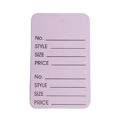 """1000 Pcs 1 3/4"""" x2 7/8"""" Purple Small GES Two Part Coupon Tag Price Labels"""