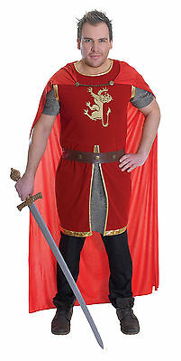 Adult Mens Medieval #Knight Lion Heart King Arthur Fancy Dress Complete Outfit
