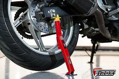 New Tirox Snap-Jack Motorcycle Folding Stand - Portable Chain Cleaning Lube Tool
