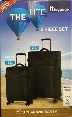 Paklite Flightweight 2 Trolley Case Bag Soft Shell Travel Suitcase 60L & 40L NEW