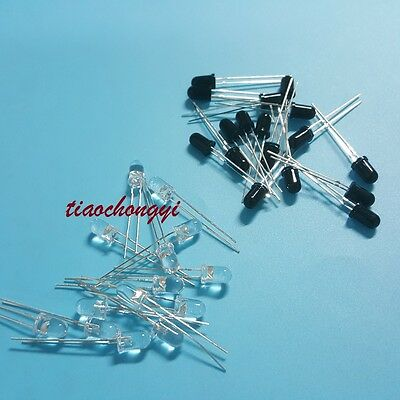 100pcs 5mm 940nm LEDs infrared emitter and IR receiver diode 50pairs diodes