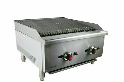 New Infernus Charcoal Gas Char Broiler 2 Burner Chargrill Catering 610mm