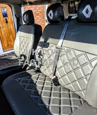 In Stock!!! Renault Trafic Up 2014   Van Seat Covers Quilted Black  A120A