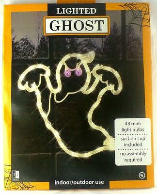 New Halloween lighted GHOST Window Silhouette Scary Holiday Decor 15.5x15.5 inch