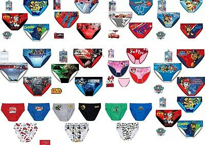 Boys Girls Kids Teenage Characters Cotton Briefs Underwear Pants Age 2-12 Years