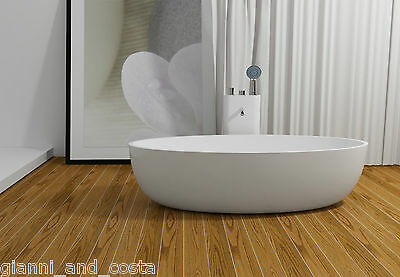 FREE STANDING BATH TUB - STONE - SOLID SURFACE - 1700x800x480mm - Freestanding