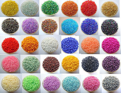 Bulk 2000Pcs 2mm Czech Glass Seed Spacer beads Diy Jewelry Making Free Shipping