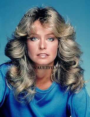 "FARRAH FAWCETT - 10"" x 8"" Colour Portrait Photograph 1970's"