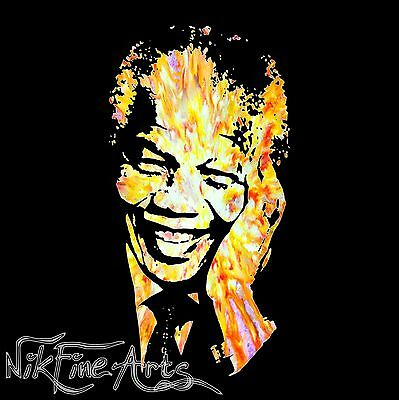 Original Painting Large Signed Art Wall Deco Collector Investment Nelson Mandela
