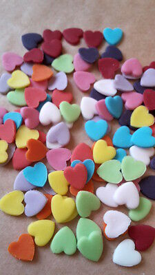 150 Edible Sugarpaste HEARTS Wedding Cupcake Topper Sprinkles (9mm) Any Colours!