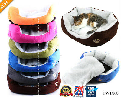 Small Soft Indoor Pets Dog Cat Puppy Bed Warm Sofa House Mat Nest Cushion Fleece