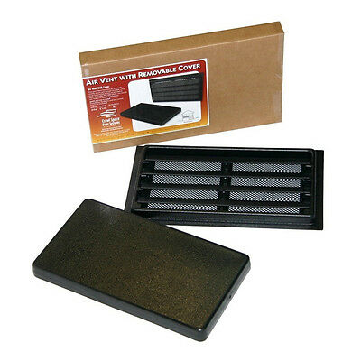 Manual Foundation Vent with Removable Cover-Black